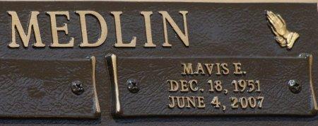 MEDLIN, MAVIS EILEEN - Tarrant County, Texas | MAVIS EILEEN MEDLIN - Texas Gravestone Photos