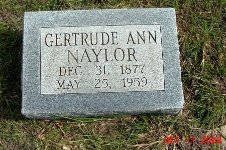 NAYLOR, GERTRUDE ANN - Tarrant County, Texas | GERTRUDE ANN NAYLOR - Texas Gravestone Photos