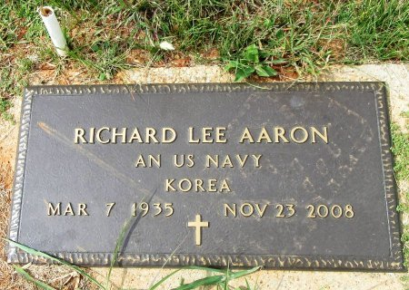 AARON (VETERAN KOR), RICHARD LEE - Taylor County, Texas | RICHARD LEE AARON (VETERAN KOR) - Texas Gravestone Photos