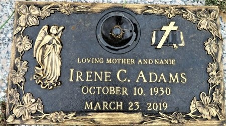 ADAMS, IRENE C. - Taylor County, Texas | IRENE C. ADAMS - Texas Gravestone Photos