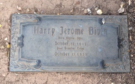 BIVIN, HARRY JEROME - Taylor County, Texas | HARRY JEROME BIVIN - Texas Gravestone Photos