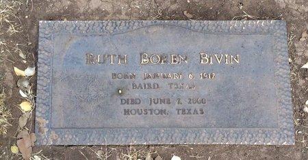 BOREN BIVIN, RUTH - Taylor County, Texas | RUTH BOREN BIVIN - Texas Gravestone Photos