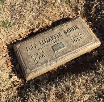 MARTIN, LOLA ELIZABETH - Taylor County, Texas | LOLA ELIZABETH MARTIN - Texas Gravestone Photos
