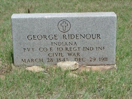 RIDENOUR (VETERAN UNION), GEORGE - Taylor County, Texas   GEORGE RIDENOUR (VETERAN UNION) - Texas Gravestone Photos