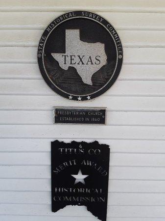 *TEXAS HISTORIC CHURCH MARKER,  - Titus County, Texas |  *TEXAS HISTORIC CHURCH MARKER - Texas Gravestone Photos