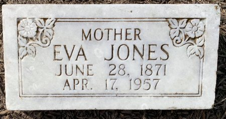 JONES, EVA - Titus County, Texas | EVA JONES - Texas Gravestone Photos