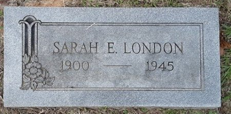 SMITH LONDON, SARAH E - Titus County, Texas | SARAH E SMITH LONDON - Texas Gravestone Photos