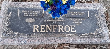 RENFROE, BILLY CHARLES - Titus County, Texas | BILLY CHARLES RENFROE - Texas Gravestone Photos