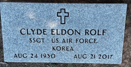 ROLF (VETERAN KOR), CLYDE ELDON - Titus County, Texas   CLYDE ELDON ROLF (VETERAN KOR) - Texas Gravestone Photos