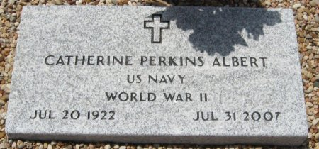 PERKINS ALBERT (VETERAL WWII), CATHERINE - Travis County, Texas | CATHERINE PERKINS ALBERT (VETERAL WWII) - Texas Gravestone Photos