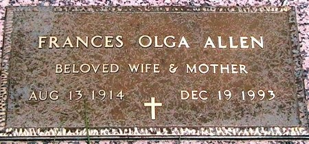 KOHUT ALLEN, FRANCES OLGA - Travis County, Texas | FRANCES OLGA KOHUT ALLEN - Texas Gravestone Photos
