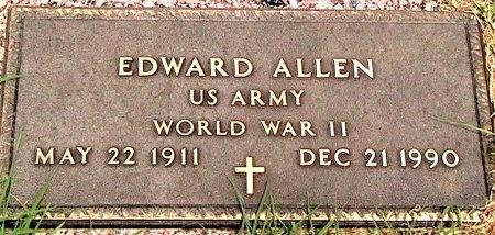 ALLEN (VETERAN WWII), EDWARD - Travis County, Texas   EDWARD ALLEN (VETERAN WWII) - Texas Gravestone Photos