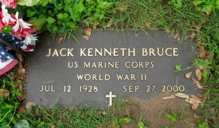 BRUCE (VETERAN WWII), JACK KENNETH - Travis County, Texas | JACK KENNETH BRUCE (VETERAN WWII) - Texas Gravestone Photos