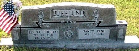 MORGAN BURKLUND, NANCY IRENE - Travis County, Texas | NANCY IRENE MORGAN BURKLUND - Texas Gravestone Photos