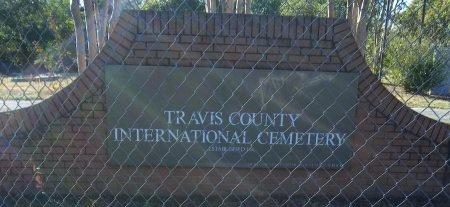 *CEMETERY SIGN,  - Travis County, Texas    *CEMETERY SIGN - Texas Gravestone Photos