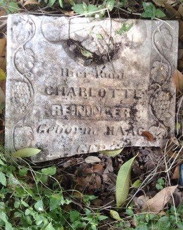 HAAG REININGER, CHARLOTTE - Travis County, Texas | CHARLOTTE HAAG REININGER - Texas Gravestone Photos
