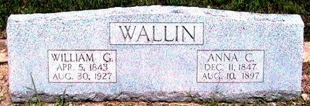 WALLIN, ANNA C. - Travis County, Texas | ANNA C. WALLIN - Texas Gravestone Photos