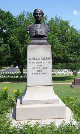 WHARTON (VETERAN CSA) (FAMOUS), JOHN A - Travis County, Texas | JOHN A WHARTON (VETERAN CSA) (FAMOUS) - Texas Gravestone Photos