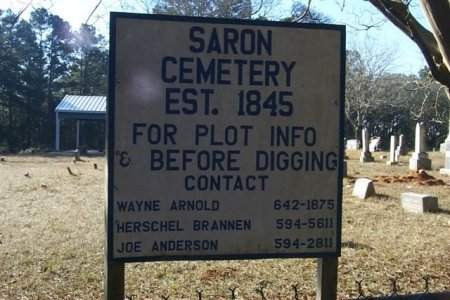 *SARON CEMETERY SIGN,  - Trinity County, Texas |  *SARON CEMETERY SIGN - Texas Gravestone Photos
