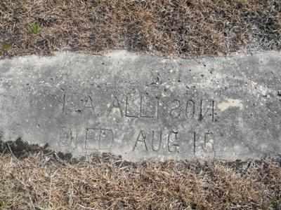 ALLISON, ISAAC ALEXANDER - Tyler County, Texas | ISAAC ALEXANDER ALLISON - Texas Gravestone Photos