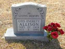 ALLISON, OTIS EVERETT - Tyler County, Texas | OTIS EVERETT ALLISON - Texas Gravestone Photos