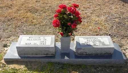 ALLISON, SR, WILLIAM G - Tyler County, Texas | WILLIAM G ALLISON, SR - Texas Gravestone Photos