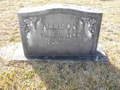 ALLISON, WILLIAM FRANCIS - Tyler County, Texas | WILLIAM FRANCIS ALLISON - Texas Gravestone Photos