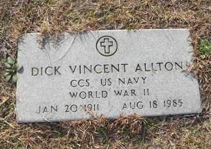 ALLTON (VETERAN WWII), DICK VINCENT - Tyler County, Texas | DICK VINCENT ALLTON (VETERAN WWII) - Texas Gravestone Photos
