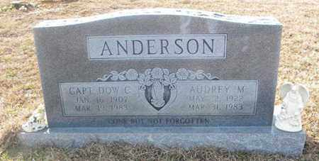 ANDERSON, CAPTAIN DOW C - Tyler County, Texas | CAPTAIN DOW C ANDERSON - Texas Gravestone Photos