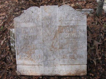 CROW, SARAH J. - Upshur County, Texas | SARAH J. CROW - Texas Gravestone Photos