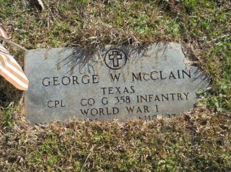 MCCLAIN (VETERAN WWI), GEORGE W - Upshur County, Texas | GEORGE W MCCLAIN (VETERAN WWI) - Texas Gravestone Photos