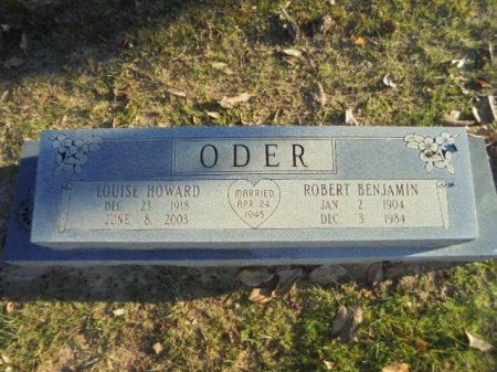 ODER, ROBERT BENJAMIN - Upshur County, Texas | ROBERT BENJAMIN ODER - Texas Gravestone Photos