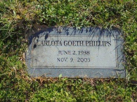 GOETH PHILLIPS, CARLOTA - Upshur County, Texas | CARLOTA GOETH PHILLIPS - Texas Gravestone Photos