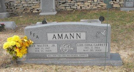 AMANN, JR, MAX WALTER - Uvalde County, Texas | MAX WALTER AMANN, JR - Texas Gravestone Photos