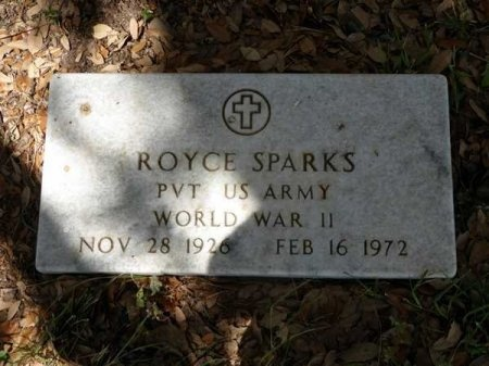 SPARKS (VETERAN WWII), ROYCE - Uvalde County, Texas | ROYCE SPARKS (VETERAN WWII) - Texas Gravestone Photos