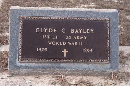 BAYLEY (VETERAN WWII), CLYDE C - Val Verde County, Texas | CLYDE C BAYLEY (VETERAN WWII) - Texas Gravestone Photos