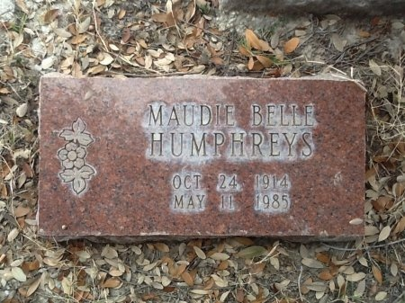 HUMPHREYS, MAUDIE BELLE - Val Verde County, Texas | MAUDIE BELLE HUMPHREYS - Texas Gravestone Photos