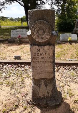BEAVER, M. L. - Van Zandt County, Texas | M. L. BEAVER - Texas Gravestone Photos