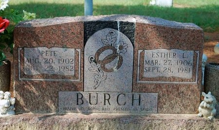 BURCH, ESTHER L. - Van Zandt County, Texas | ESTHER L. BURCH - Texas Gravestone Photos