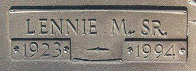 HALE, SR., LENNIE MITCHELL (CLOSE UP) - Van Zandt County, Texas   LENNIE MITCHELL (CLOSE UP) HALE, SR. - Texas Gravestone Photos