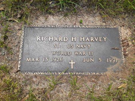 HARVEY (VETERAN WWII), RICHARD H - Van Zandt County, Texas   RICHARD H HARVEY (VETERAN WWII) - Texas Gravestone Photos