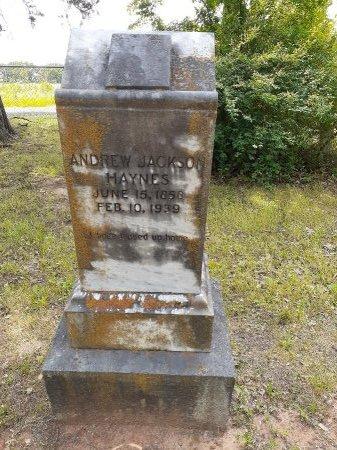 HAYNES, ANDREW JACKSON - Van Zandt County, Texas | ANDREW JACKSON HAYNES - Texas Gravestone Photos