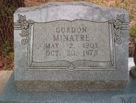 MINATRE, GORDON - Victoria County, Texas | GORDON MINATRE - Texas Gravestone Photos