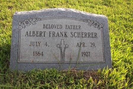 SCHERRER, ALBERT FRANK - Victoria County, Texas   ALBERT FRANK SCHERRER - Texas Gravestone Photos