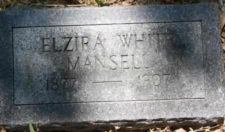 WHITE MANSELL, ELZIRA - Walker County, Texas | ELZIRA WHITE MANSELL - Texas Gravestone Photos
