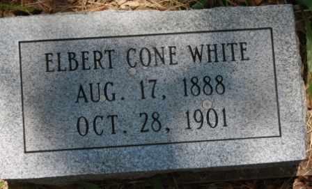 WHITE, ELBERT CONE - Walker County, Texas | ELBERT CONE WHITE - Texas Gravestone Photos