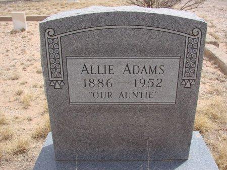 """ADAMS, ALICE """"ALLIE"""" - Ward County, Texas   ALICE """"ALLIE"""" ADAMS - Texas Gravestone Photos"""
