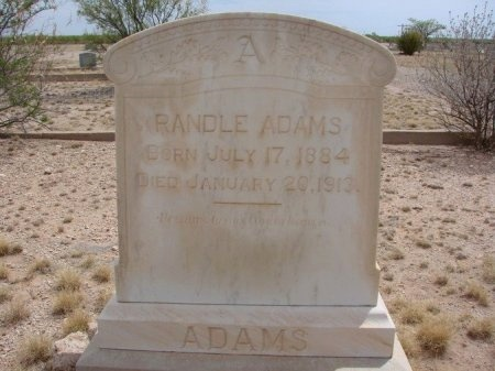 ADAMS, RANDLE - Ward County, Texas | RANDLE ADAMS - Texas Gravestone Photos