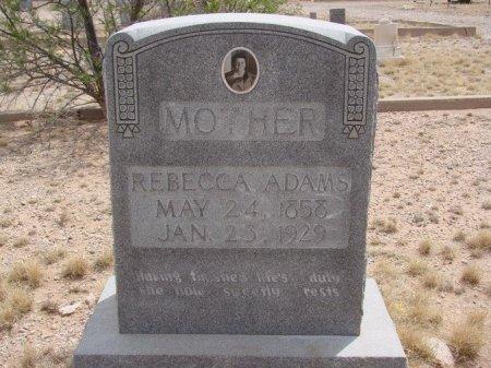 ADAMS, REBECCA - Ward County, Texas   REBECCA ADAMS - Texas Gravestone Photos