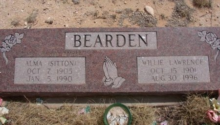 SITTON BEARDEN, ALMA - Ward County, Texas | ALMA SITTON BEARDEN - Texas Gravestone Photos